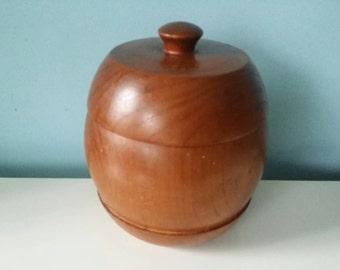 Large massive wooden tobacco jar vintage/retro 60s/7s