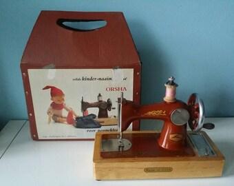 USSR childrens sewing machine vintage with original case