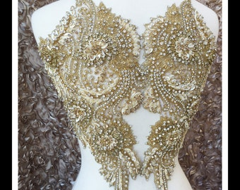 Gold Beaded Embroidery  Anjel Wings