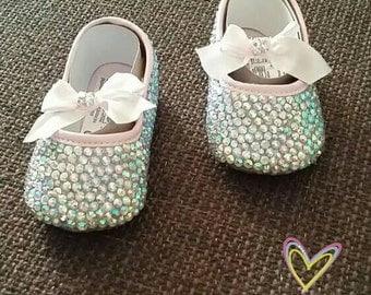 Crystal shoes, Crystal baby shoes, rhinestone shoes, baby shoes, crystal, rhinestone, rhinestone baby shoes, baby girl, baby girl shoes
