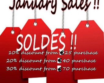 Winter SALES,January SALES,10,20 and 30% discount