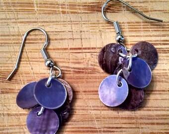 Purple Dangling Earrings