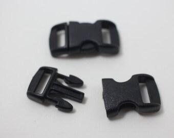 B0008/Black/Bracelet Making Clip/15x28mm/5pairs