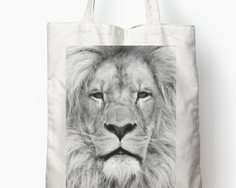 LION FACE Tote Bag wonder cute maine africa safari jungle king animal wild