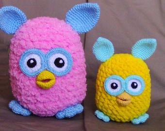Amigurumi crochet pattern - Furby toy