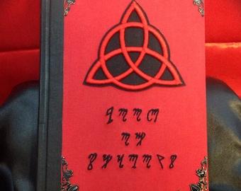 """Book of shadows """"Red Theban Triquetra"""""""