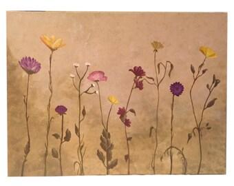 Wildflowers - acrylic on canvas original art