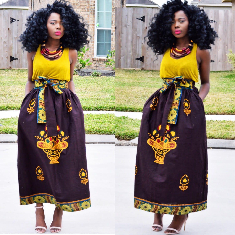 African skirt maxi skirt African Maxi skirt African print