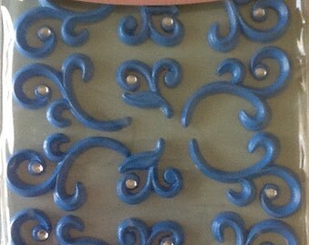 """Wholesale Lot of 3 packs Jolee's Boutique Cabochons """"Baby Blue Flourishes"""""""