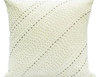 Off White 24x24 Pillow Cover,Euro Sham 26x26 , Handmade Euro Sham Cover White Decorative Pillows For Bed,Euro Sham Cover