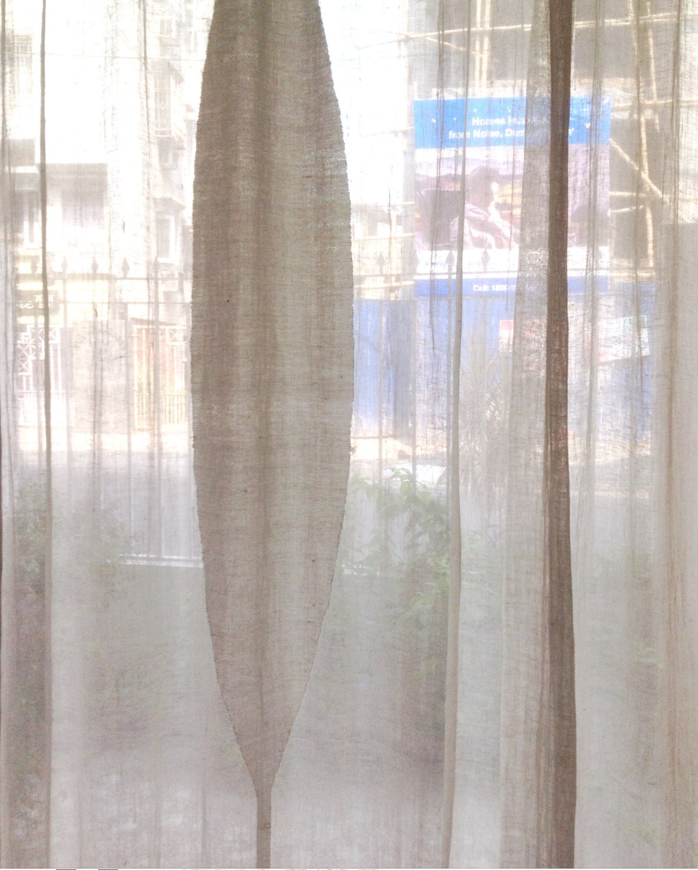 Sheer linen curtainswhite sheer curtainswindow by for Linen sheer window panels