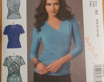 Sewing pattern McCall's 7249 Misses' tops and dress new uncut size 6 to 14