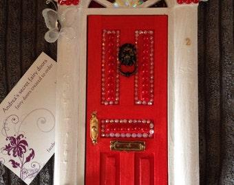 Red fairy door etsy for Red elf door