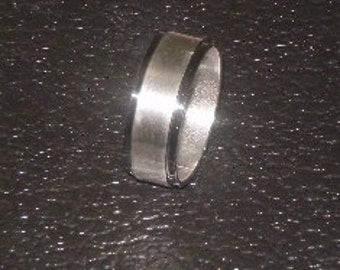 Stainless Steel with Black Border Ring