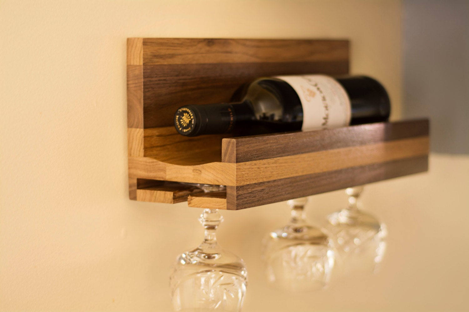 Wall Mounted Wooden Wine Rack - Lovequilts