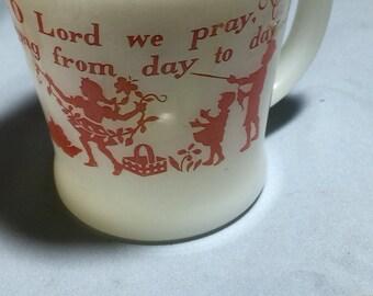 Fire King BLESS THIS FOOD Coffee Mug