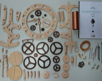 Lily wooden wall clock kit