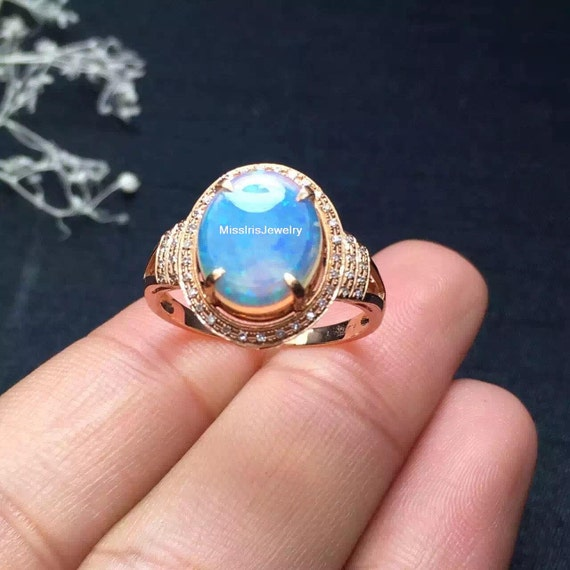 Items Similar To Opal Ring Exquisite Braided Opal: Items Similar To Opal Engagement Ring On Etsy