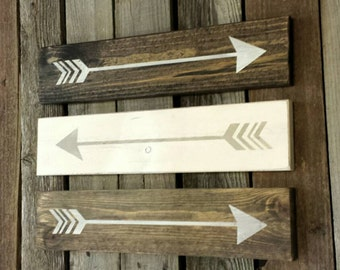 Set of 3 Rustic Arrows, Wooden Arrows, Rustic Wood Arrows, Follow Your Arrow Decor,  Woodland Decor, Nursery Decor, Rustic