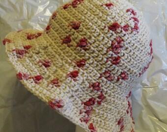 Floppy Brim Summer Hat Hand Crocheted