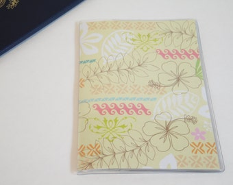 Passport Cover, Hibiscus Flowers & Tropical Leaves, Passport  Sleeve, Case, Holder