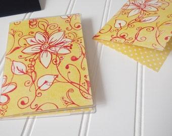 Floral Passport Cover, Ella Butter Blossom, Passport Sleeve, Case, Holder