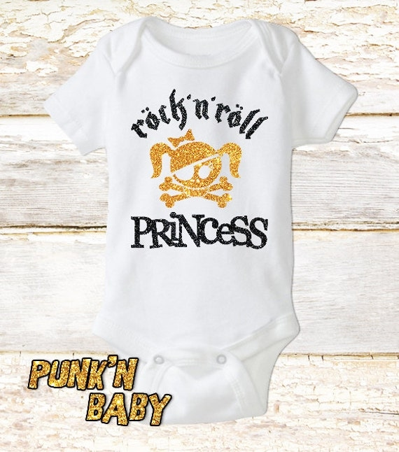 Rock n Roll Princess onesie Punk Baby Clothes Baby by