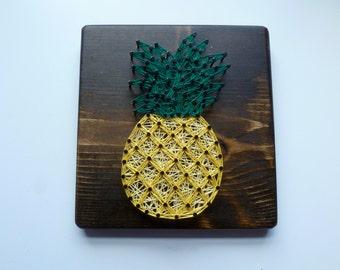 Pineapple String Art, Pineapple Wall Decor