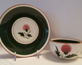 Stangl Thistle Cup and Saucer #3847