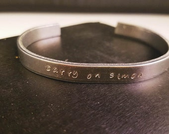 "Carry On - ""Carry On, Simon"" Cuff Bracelet"