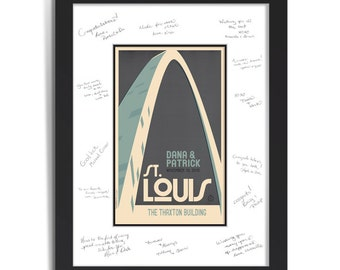 Gateway Arch Wedding Personalized Art Guest Signing System (Large)