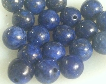 7mm Natural Lapis Lazuli Round Beads 20pcs Jewelry Making Supplies Beading Bead Gemstone (ID BB6-54)
