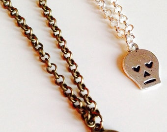 Skull | Heart | Emo | Gothic | Scene | Cute | Necklace