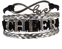 Cheer Jewelry- Cheer Bracelet- Cheer Rhinestone Bracelet- Perfect Cheer Gift For Cheerleaders, Cheer Teams & Cheerleading Coaches!!!