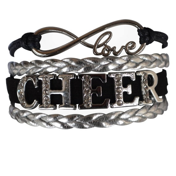 Cheer Charm Bracelets: Cheer Jewelry Cheer Bracelet Cheer By MyInfinityCollection