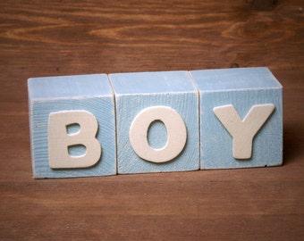 Shabby Chic BOY Blocks