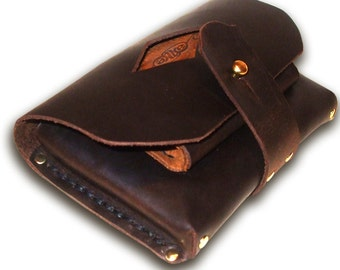 "Handmade Leather Belt Pouch  -  ""3rd Time Lucky"""