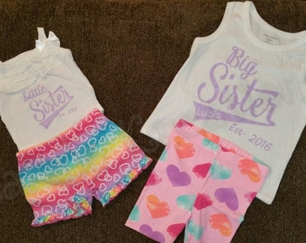 Personalized matching big sister/little sister shirts!!
