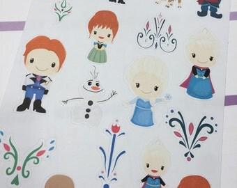 Ice Queen Planner Stickers