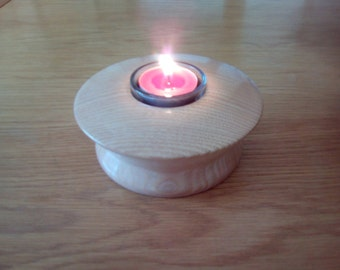 Tea light holder hand made in Ash