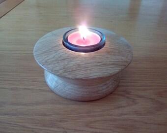 Tea light holder hand made in English Oak