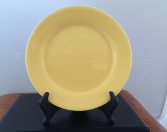 Vintage Bauer Pottery Yellow Plainware Bread and Butter Plate