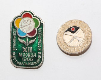 Soviet Fun Brooch Bag Decoration Collectible Badges Vintage USSR Sportlotto Pin Badge youth and students Badges USSR era collectible