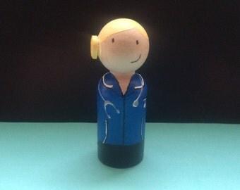 Nurse peg doll / cake topper / miniature