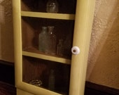 Sunshine Yellow Antique Apothecary Cabinet