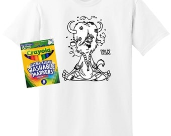 Zootopia Coloring Shirt, Yax Coloring Sheet Shirt, Zootopia Shirt, Coloring Sheet Shirt, Coloring Shirt, Washable Coloring Shirt