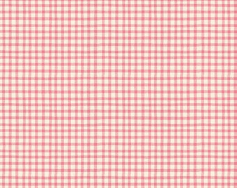 1/2 yd Paper Dolls Bakery Gingham for Penny Rose Fabrics & Riley Blake C4356 PINK