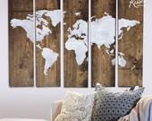 5 Panel World Map