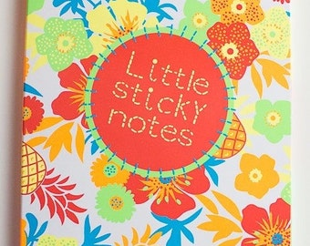 Hema sticky notes page flags set, booklet, floral themed
