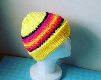 Neon Beanie Hat - Mens Beanie - Women's Beanie - Neon Yellow Hat - Accessories - Festival - Neon Hat MakeLikeAGinger